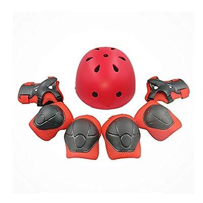 boy's and girl's Scooter BMX Bike Helmet Kids Roller Helmet Roller Ice Balance Car Twist Car Protective Gear Suit 7 Pieces In 1 Sets from Pro helmet