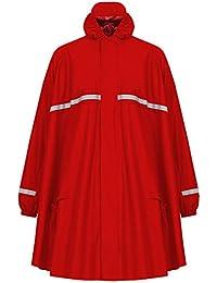 HOCK Regenponcho mit Reissverschluss und Ärmeln - Fahrradponcho Wasserdicht & Atmungsaktiv - Mit Kapuze und Reflektoren - Herren Damen Regenschutz - Hochwertige Regenbekleidung