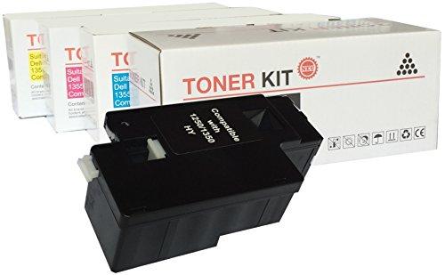 Premium Toner - 1250 - 1350 - Pack 4 - C / M / Y / BK - Kompatibel mit : DELL - 1250C - 1350CNW - 1355CN - 1355CNW - C1250 - C1760NW - C1765NF - C1765NFW (Refill-kits Toner)