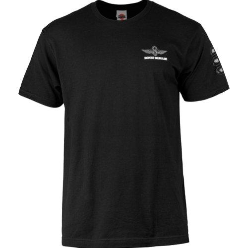 Powell Peralta Bones Brigade Bomber T-Shirt, Herren damen, schwarz