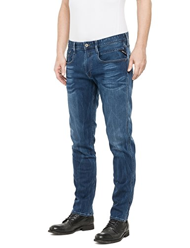 Replay Herren Slim Jeanshose Anbass Blau (Blue Denim 9)