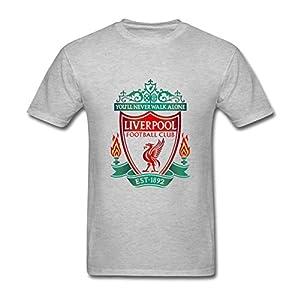 AdamimyClay® Tirasu Men's Liverpool FC Logo T shirts [Medium]