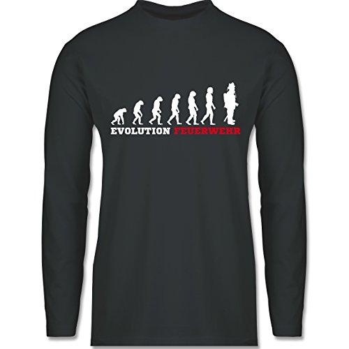 Feuerwehr - Evolution Feuerwehr - Longsleeve / langärmeliges T-Shirt für  Herren Anthrazit