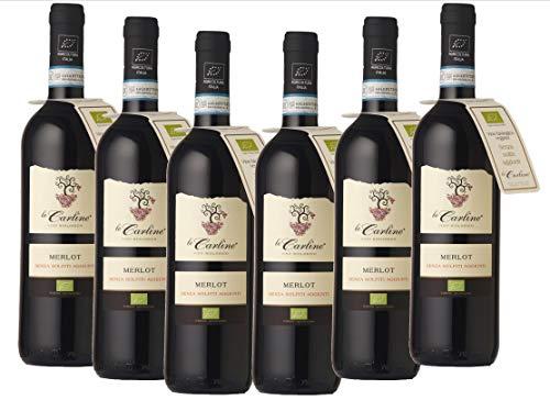 Merlot DOC ohne sulfite Le Carline biologischer und veganer Wein
