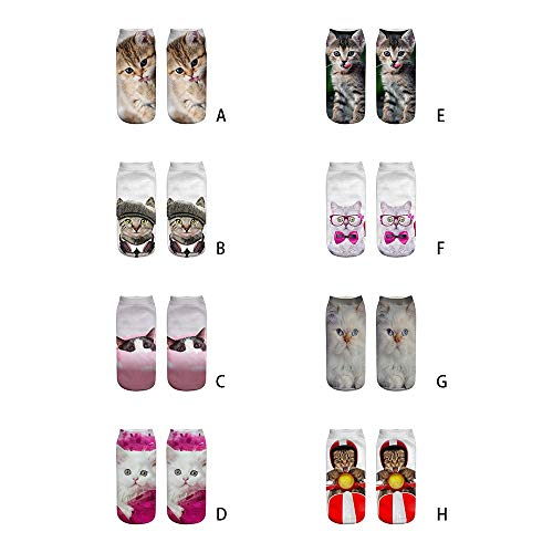 Anglewolf-1-Pair-Unisex-Funny-3D-Fashion-Cat-Printed-Casual-Socks-Cute-Low-Cut-Ankle-Men-Women-Cotton-Animals-Dog-Sports-Stocking-Harajuku-Style-Animal-Pattern-Christmas-Breathable-StockingsA2