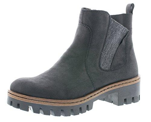 Rieker Damen Chelsea Boots gefüttert Schwarz, Schuhgröße:EUR 37