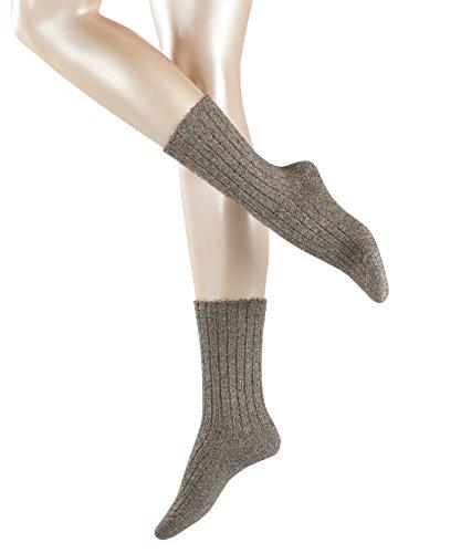 FALKE Damen Socken Dewdrop, Grau (Flint Grey 3640), 39/42 (Bekleidung Grey Flint)
