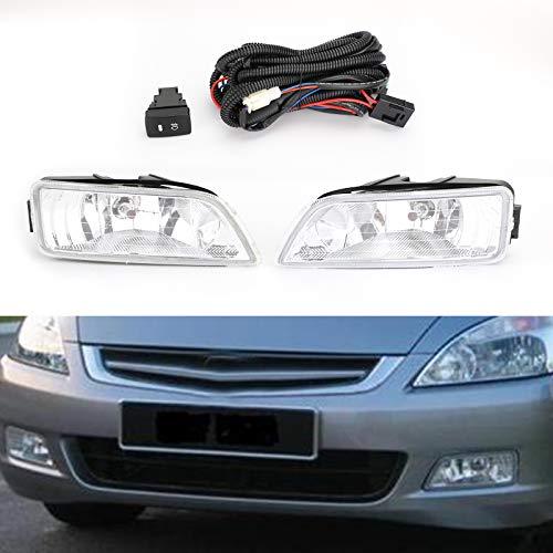 Areyourshop Nebelscheinwerfer mit Verkabelung und Schalter für 03-07 Hon- da Accord 4DR 04-08 Acu-ra TL (2005 Accord Honda Stoßstange)