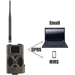 GBX Cámara de viaje al aire libre-Hc-300M 2G Lte Trail Cámara inalámbrica de 1080p / 12Mp con 2 'Lcd Mms y Gprs Cellular Game Path Camera/Cámara de seguridad   36 Máquina de caza infrarroja