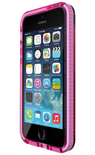 Tech21 Evo Mesh Schutzhülle Case Widerstandsfähig Schlagfest mit FlexShock Aufprallschutz für iPhone 5/5S/SE - Pink/Weiߟ Pink/Weiß