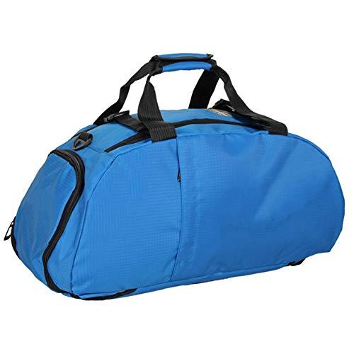 MERRYHE Sacca da Palestra Impermeabile Unisex Borsone Sportivo Zaino da Viaggio Week-End Zaini da Viaggio Escursionismo Borse con Manico Superiore Zaini con Scompartimento Scarpe,Blue-46 * 24 * 24cm
