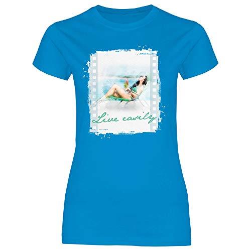 Royal Shirt Damen T-Shirt Cocktail Girl, Größe:XXL, Farbe:Sapphire