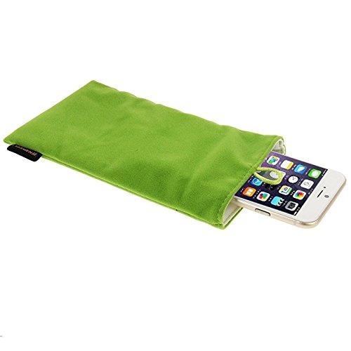 Wkae Case & Cover haweel sac sac avec pearl bouton flanelle mous pour iphone 6 plus / 5,5 pouces de téléphone mobile, taille: 18.5cm x 9cm ( Color : Grey ) Green
