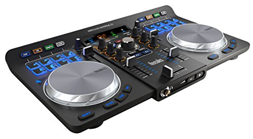 Hercules Universal DJ (2-Deck DJ Controller, Bluetooth, 16 Performance-Pads, Audio In/Out, DJUCED 40°, PC/Mac/iOS/Android)