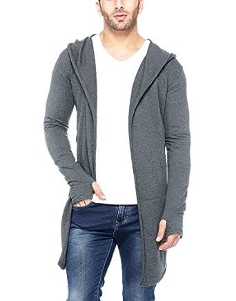Tinted Men's Cotton Blend Cardigan (TJ5455-ANTHERA-S, Anthera, Small)