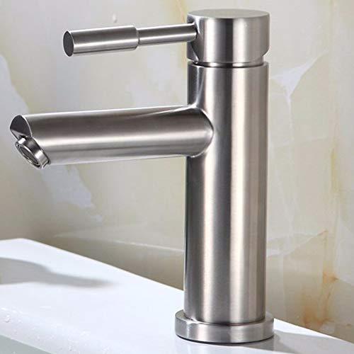 MEMORY Messing konstruiert poliert heißen und kalten Waschbecken Wasserhahn, Waschbecken Wasserhahn, Kupfer heißen und kalten Einloch-Einhand-Erhöhung Becken Wasserhahn,C - Jet Edelstahl-sortiment