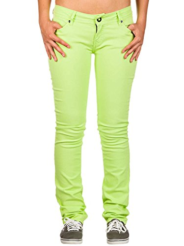 Volcom Damen Skinny Fit Jeans Lime