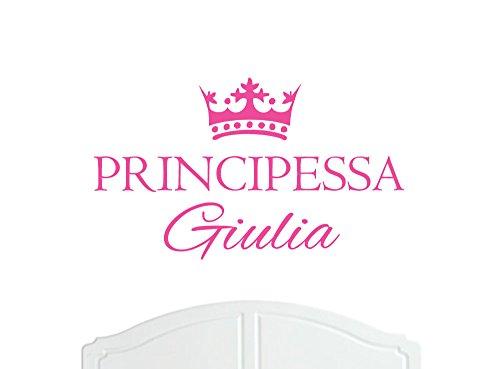 Aetas Carta Da Parati.Principessa Giulia Grande Adesivo Murale Con Corona Decorazione Parete Adesivi Per Muro Carta Da Parati Decalcomania Del Vinile Scelta Di Colori