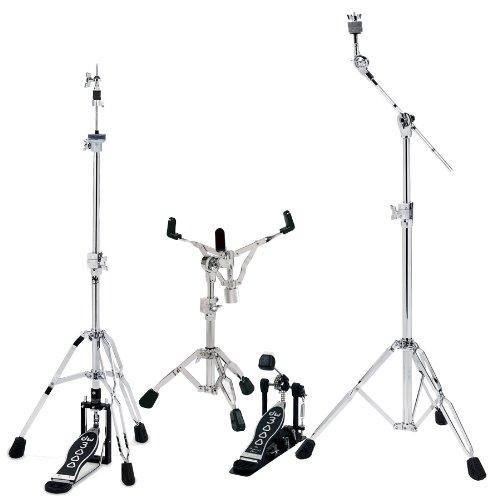 DW dwcp3000pk Schlagzeug Hardware Pack mit 3300Snare Drum Ständer, 3500Hi-hat-Ständer, 3700Boom Becken Stand und 3000Single Bass Drum Pedal