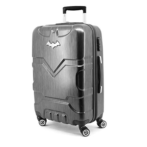 Karactermania Batman Batsignal-ABS Trolley Suitcase Koffer, 67 cm, 70 liters, Schwarz (Black)