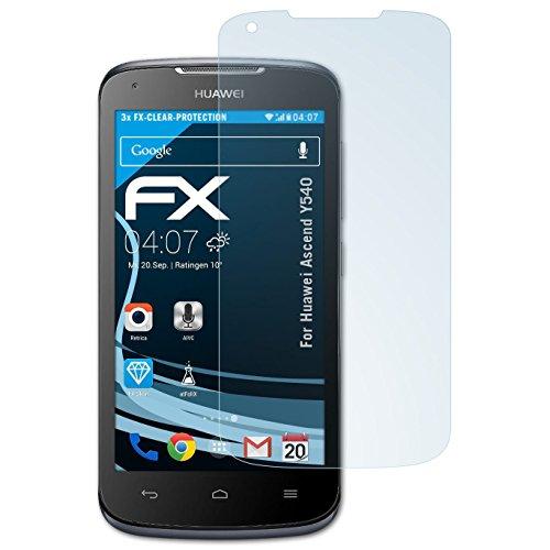 atFolix Schutzfolie kompatibel mit Huawei Ascend Y540 Folie, ultraklare FX Bildschirmschutzfolie (3X)