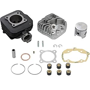 Kit cylindre Top Performances 70cc AC, Cylindre en fonte grise pour Peugeot Ludix 50 L1 - AC   Peugeot Speedfight 3 50 F1A - AC - 2 Takt