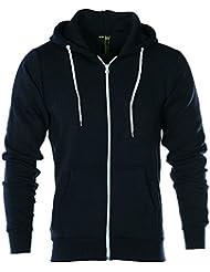 Uni Veste zippée à capuche en polaire pour homme Veste sweat-shirt à capuche manches longues