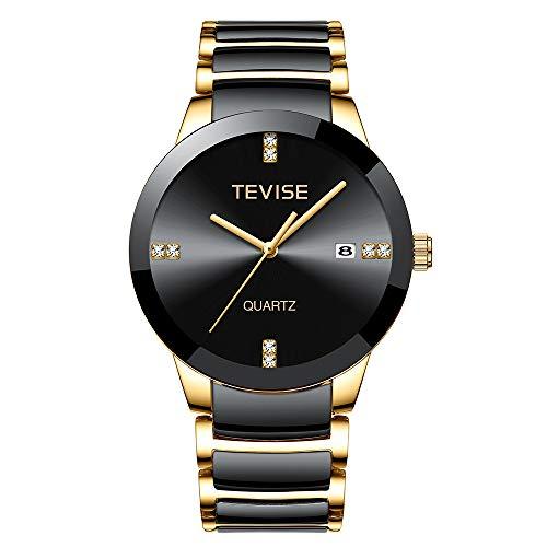S-Watch Herrenuhr Herren Uhr Männer Uhren Herrenarmbanduhr Mann Uhr Luxusmarke Quarz Armbanduhr Herren Keramik Casual Persönlichkeit Männliche Uhr erkek kol saati