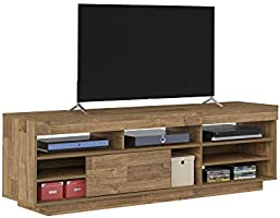 Artely Treviso TV Table for 60 inch TV, Rustic Brown, W 180 cm x D 41.5 cm x H 56.5 cm