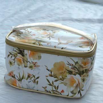 Fleurs vintage et élégantes, trousse de toilette de haute qualité, trousse de finition, sac de rangement pour cosmétiques, lessive grande capacité