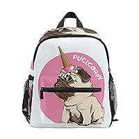 Pug Pink Unicon Childrens School Bag Kid