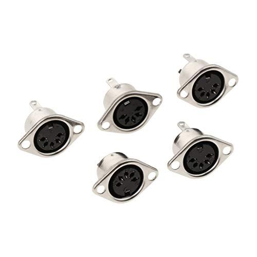 8-pin-weiblich-anschluss (Gazechimp 5pcs DIN Stecker Buchse 3-polig 4-polig 5-polig 6-polig 7-polig 8-polig weiblich - 5 Pin)