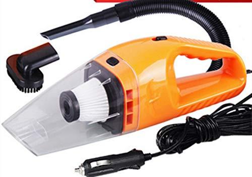 Carcly Autostaubsauger 12v 120W Staubsauger Auto Nass & Trocken Handstaubsauger Handselbststaubsauger Saugkraft HEPA-Filter, 5M Netzkabel,orange