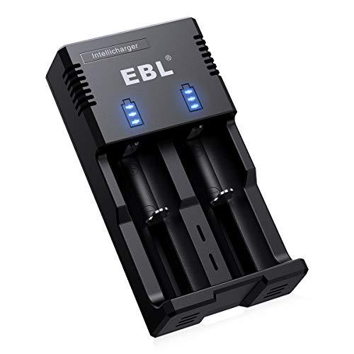 EBL 18650 akku Ladegerät für Micro AA Mignon AAA RCR123 Baby C Batterien Ladegerät Li-Ion/IMR / LiFePO4 / NI-MH/NI-Cd 18650 26650 22650 14500 Universal Ladegerät