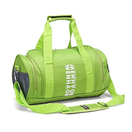 Qsfdhifdr Borse Sport Borse fitness Borse allenamento Borse a spalla cilindriche Borse yoga@Scarpe indipendenti verde chiaro_L