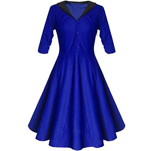 Partiss - Robe - Plissée - Femme Bleu