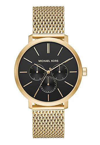 MICHAEL KORS Unisex Erwachsene Analog Quarz Uhr mit Edelstahl Armband MK8690