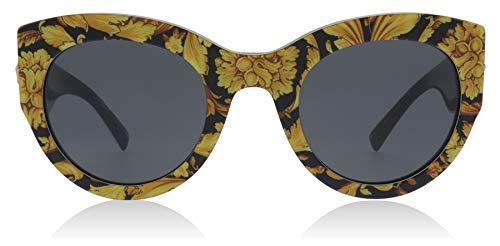 Ray-ban 0ve4353 occhiali da sole, nero (baroque yellow/black), 51 donna