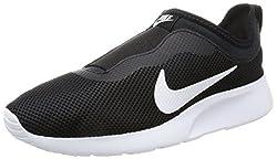 Nike Womens Tanjun Slip On Running Shoe Black/White 6. 5