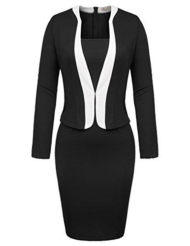 GRACE KARIN Mujer Vestido Mangas 3/4 Bodycon para Oficina Fiesta L CLAF0433-1