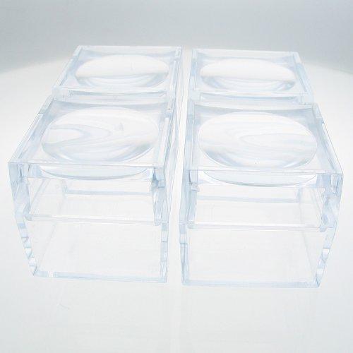 Der Magni Box, Pack von vier größere Größe 40mm Acryl Lupe Boxen, Schmuck und Charms, Käfer und Insekten, Fossilien, Mineralien und Edelsteine, Zahnfee. 4Stück.
