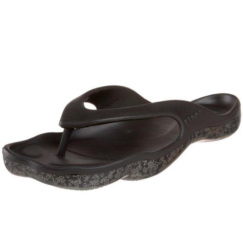 Preisvergleich Produktbild Crocs Abf Flip Leaves,  Damen pumps ,  schwarz - Nero (Black) - Größe: 33 1 / 2