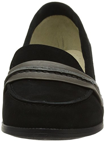 Hush Puppies Damen Cathcart Knightsbridge Loafers Schwarz (Black/Grey)
