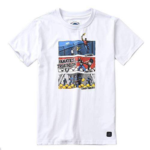 PG Wear Herren T-Shirt Triathlon schwarz weiß rot S-XXXL (XXL, Weiß)