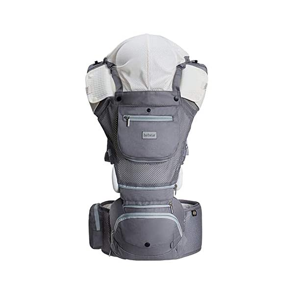 "FIFY baby carriers Newborn cross-hatch newborn baby strap summer breathable multi-function waist stool hold baby artifact baby hug AX03 Rose powder [breathable], D FIFY Offer three carrier method: outward-facing, inward-facing and back carrying; product care: machine wash, warm (40 degrees). wash separately with a gentle, bleach-free detergent Age: from 3 months-14 months (at least 3.6 kg -9.1 kg) COMFORTABLE & ERGONOMIC AS BABY GROWS: Easy to adjust bucket seat supports your baby in an ergonomic natural ""M"" position in all carry positions from baby to toddler. 1"