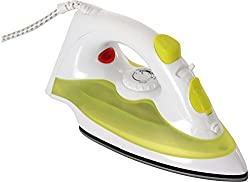 Sunflame 1250-Watt Steam Iron (White & Green)