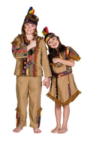 Indianerkostüm für Kinder Indianer Kinderkostüm Navajo 2 tlg. Gr. 104, 116, 128, 140, 152, 164, (Navajos Indianer Kostüme)