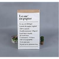 5Five Grand Kraft Papier Sac de Rangement Organisateur Recyclable à Jouet Vêtements Chaussure