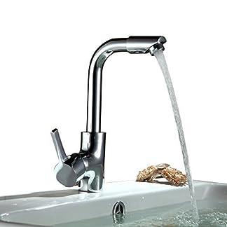 Auralum® mezclador grifo de la cocina elegante toque aparato de grifo que gira 360 ° para la cuenca del fregadero de la cocina