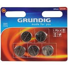 Grundig - Juego de 5 pilas de botón (3 V)